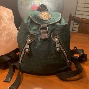 KIPLING Green BUSTLING Drawstring Backpack
